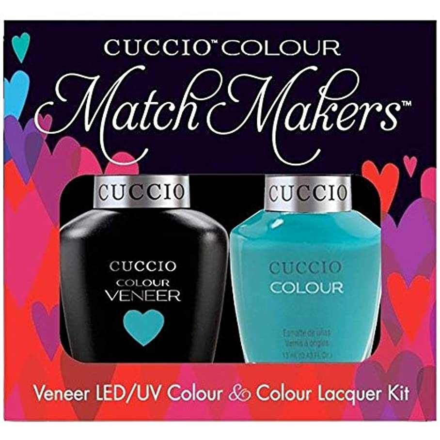 前方へ特異性エーカーCuccio MatchMakers Veneer & Lacquer - Muscle Beach - 0.43oz / 13ml Each