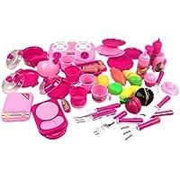 Vktech 子供 ままごと 玩具 キッチン用 食べ物 果物を切り 食器 カトラリー 40点セット