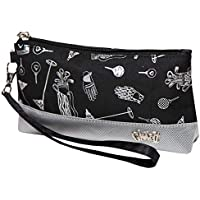 Women's Wristlet Wallet Glove It Zipper Wristlets for Women Ladies Wristlet Purse Removable Strap for Keychain Make Up, Cell Phone, Smartphone, Travel, Credit Cards 2018 Checkmate