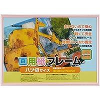 ナカバヤシ 樹脂製 画用紙 フレーム 額 八ツ切 ピンク フ-GFP-101-P
