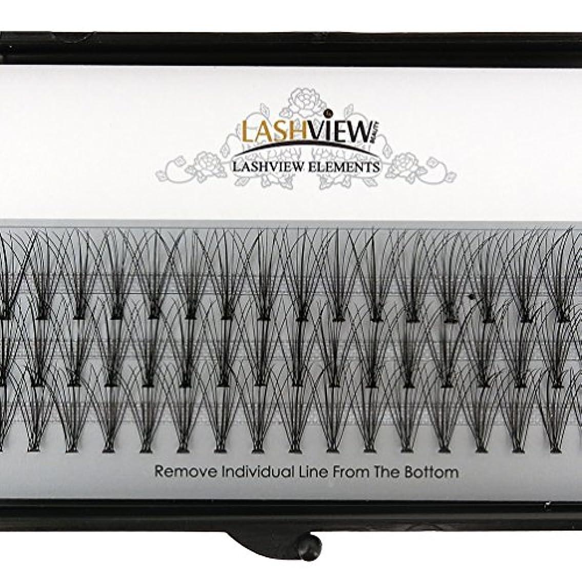 ネスト下位デンマーク語LASHVIEW 高品質まつげエクステ太さ0.10mm Cカール フレア セルフ用 素材 10本束12mm マツエク