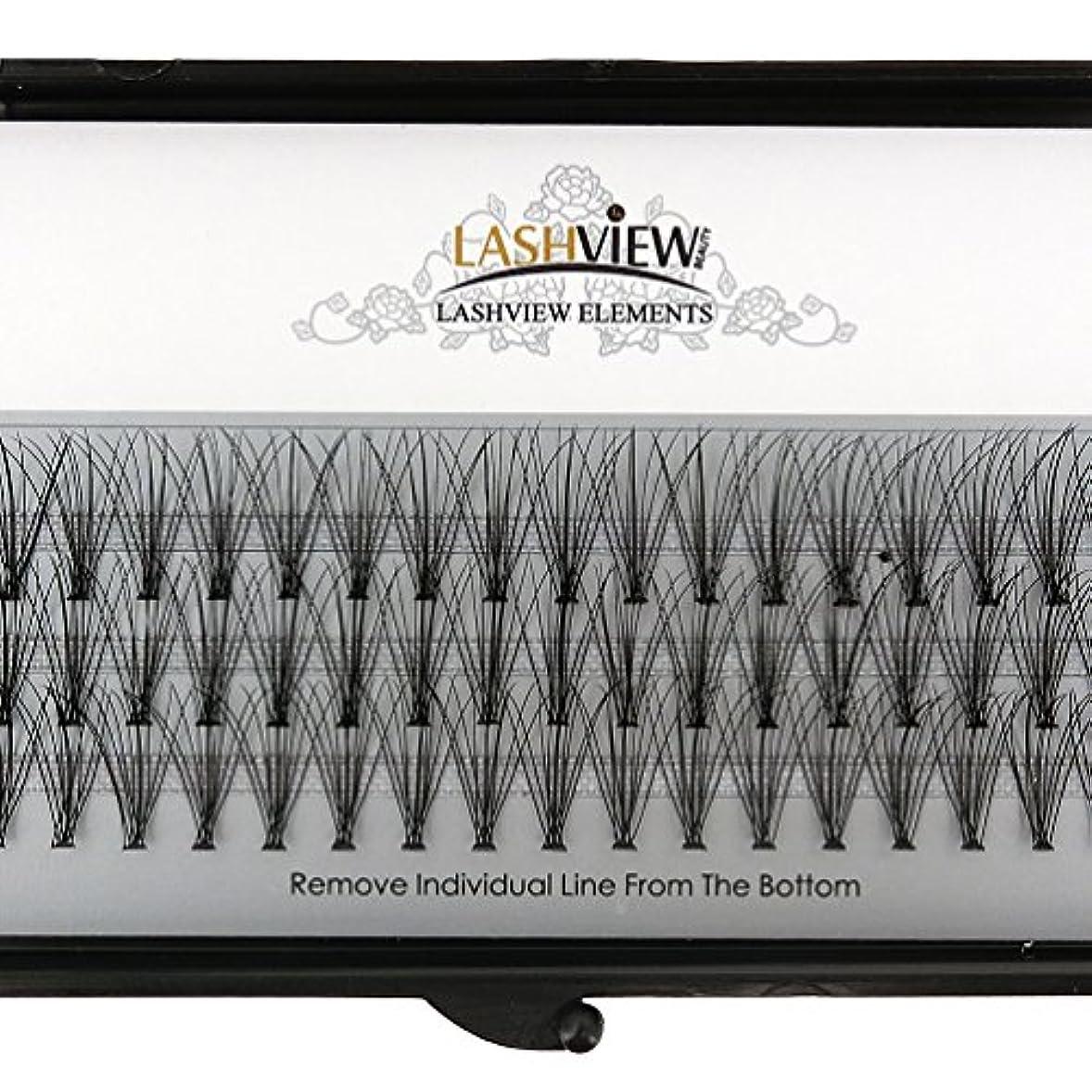 期間全体化合物LASHVIEW 高品質まつげエクステ太さ0.10mm Cカール フレア セルフ用 素材 10本束12mm マツエク