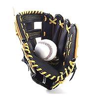 IhDFR 左手野球グローブ、大人と青少年キッズ11.5inch用ソフトソリッドPUレザー肥厚ピッチャー軟式グローブと大人の野球のトレーニング競争グローブ(カラー:ブラック) (Size : 11.5 inches)
