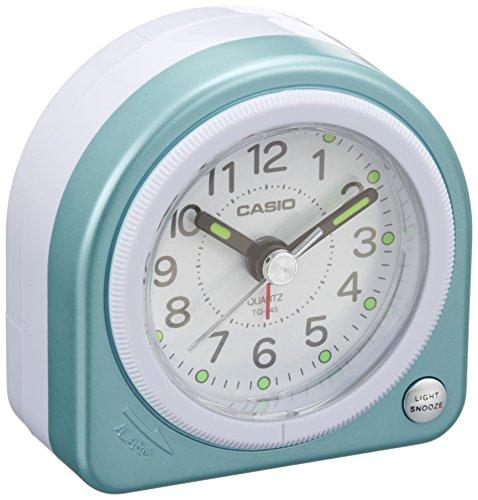クオーツ式小型置き時計 TQ-145-2JF ブルー 1個