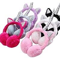 Lurrose Fluffy Earmuffs for Kids Furry Plush Unicorn Ear Warmer Winter Ear Covers for Kids Children (Random Color)