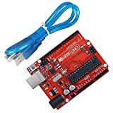 IEIK UNO R3 Board ATmega328P with USB Cable for Arduino - Compatible With Arduino UNO R3 Mega 2560 Nano Robot Red Development Board [並行輸入品]