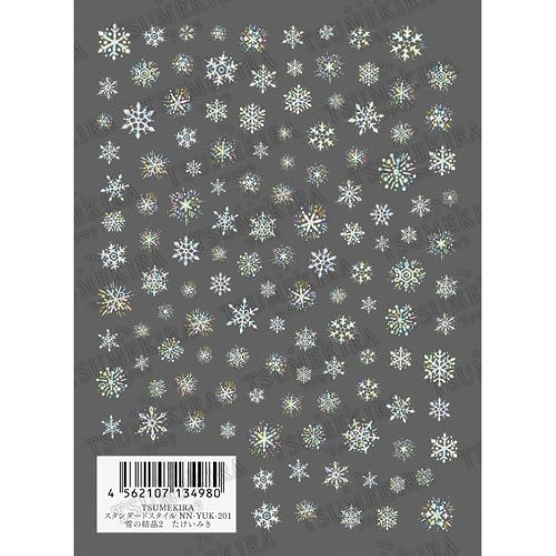 色合い玉ねぎ適用済みツメキラ ネイル用シール スタンダードシリーズ 雪の結晶2 NN-YUK-201