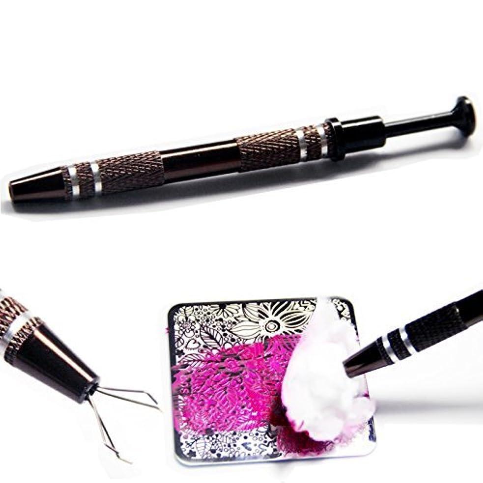 故障中編集する墓イメージプレートクリーニングペン コットンキャッチペン スタンピングネイルツールネイルアートネイル用品