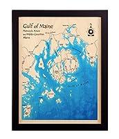 Elephant Butte Reservoir in Sierraソコロ–印刷マップ14x 18で–マルチカラー印刷Framed Nautical Chartと地形奥行マップ。