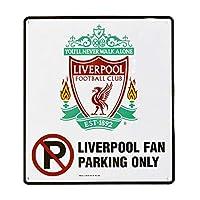 リバプール フットボールクラブ Liverpool FC オフィシャル商品 Fan Parking Only ルームサイン 看板 雑貨 (ワンサイズ) (ホワイト)