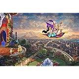 西洋絵画 ディズニー アラジン トーマス キンケード 42x30cm Aladdin アラジンの大冒険 [並行輸入品]