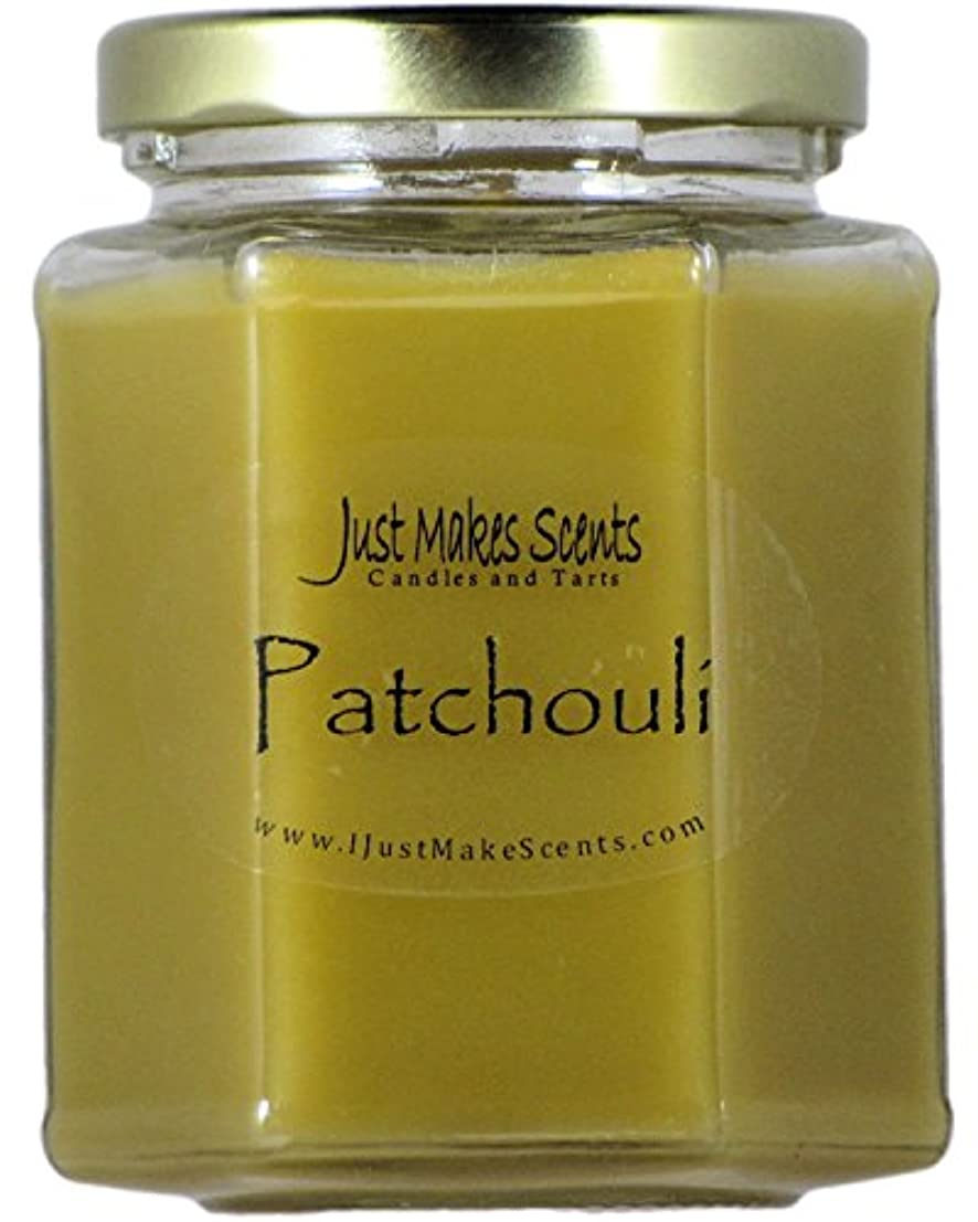 農業の飾る切断するPatchouli Scented Blended Soy Candle by Just Makes Scents (270ml)