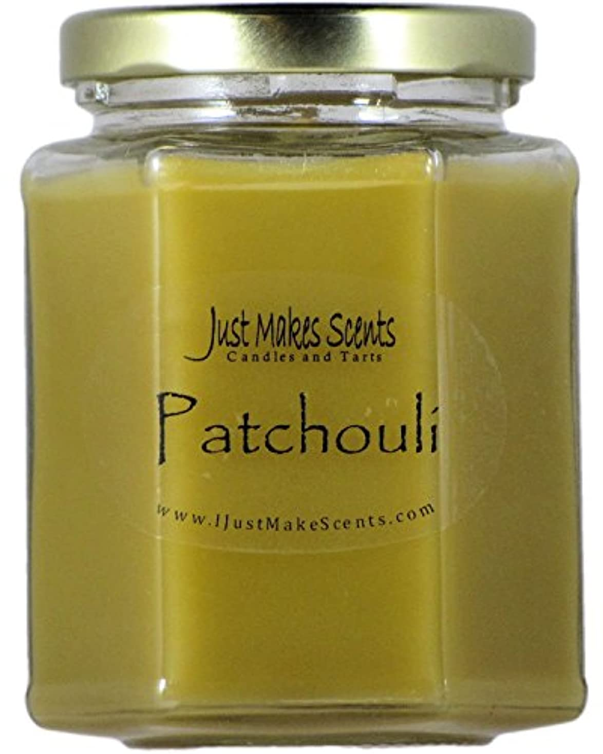スーパーマーケット未接続取り組むPatchouli Scented Blended Soy Candle by Just Makes Scents (270ml)