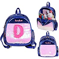 Toddler Backpack - Children Lightweight Outdoor & Trip Bag, Reversible Sequins, Water-Resistant and Lightweight Preschool Backpack for Boy Girl