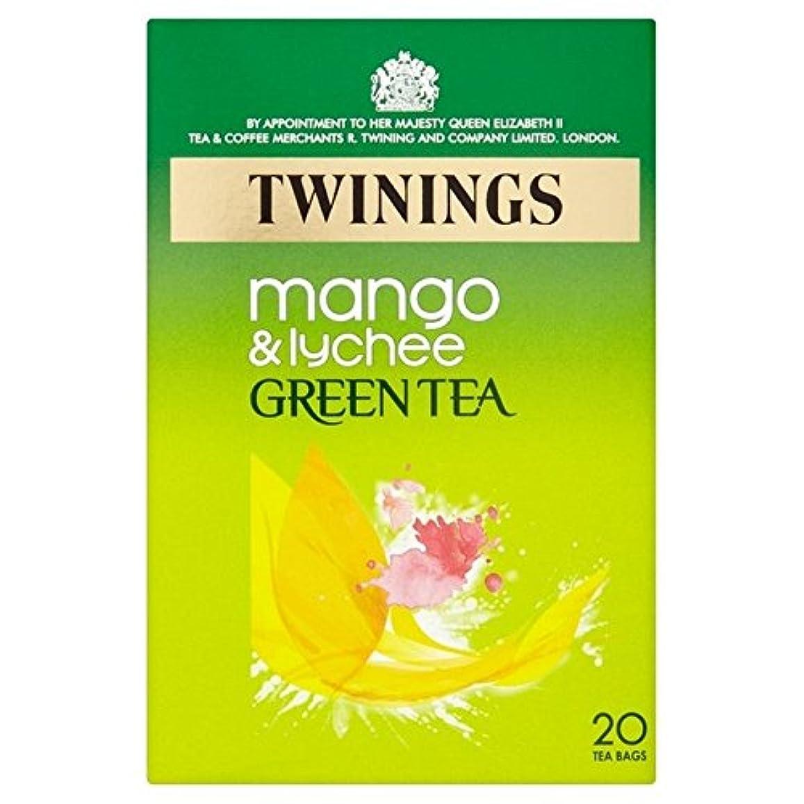 乗算セラーモンスター1パックマンゴー&ライチ20とトワイニンググリーンティー (x 6) - Twinings Green Tea with Mango & Lychee 20 per pack (Pack of 6) [並行輸入品]