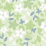タカ印 包装紙 49-1523 花柄 ファイングロウ緑 半才判 50枚