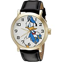 Disney Donald Duck Men's W002332 Donald Duck Watch with Black Band
