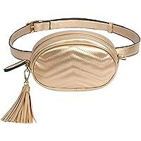 Badiya Women Waist Bags Ladies Tassel Fanny Packs Stylish Travel Cell Phone Bum Bag