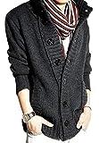 (アルファーフープ) α-HOOP メンズファッション カジュアル ストリート ボタン カーディガン アウター ジャケット M ~ XXL 大きい サイズ も KDG (10.グレー.(Lサイズ))…