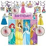 ディズニー プリンセス パーティ グッズ デコレーションキット ウォールポスター スワール シーンセッター 飾りつけ 装飾 誕生日 子供部屋 (並行輸入品) disney princess set