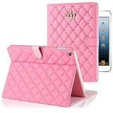 【hayarifashion】iPad Air2 ケース、iPad mini3 スマート カバー 自動スリープ 傷つけ防止「スタンド機能」二つ折ケース  iPad2/3/4/5/6/Air1/Air2/mini1/2/3対応 (mini1/2/3, ピンク)