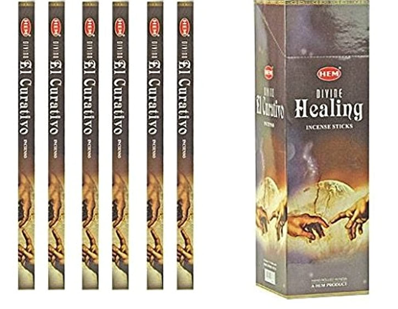 インドHem Divine Healing Incense 6パックX 8スティック、Wicca Pagan 8 Gm正方形ボックス