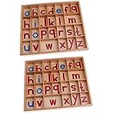 B Baosity アルファベットボックス レターボックス 可動ボックス  アルファベット 木製玩具 学習玩具 2セット