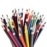 Aosnow 色鉛筆 油性色鉛筆 50色セット 六角軸 画材セット お絵描き 塗り絵 イラスト描き 収納ケース付き プレゼント向き (50 色)