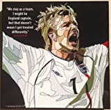 デビッド・ベッカム イングランド代表 海外製 サッカーグラフィックアートパネル 木製ポスター インテリア