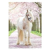 Sunsoar ダイヤモンド絵画 刺しゅうキット クロスステッチ DIY 手作り 5D インテリア プレゼント 装飾 馬 30 × 30 CM