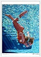 ポスター ジェイソン スティルマン The Plunge 2 額装品 アルミ製ハイグレードフレーム(ホワイト)