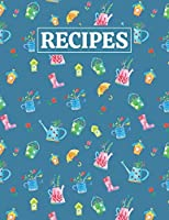 Recipes: Blank Journal Cookbook Notebook to Write In Your Personalized Favorite Recipes with Spring Themed Cover Design
