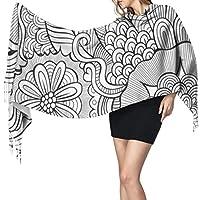 抽象的な花スケッチ背景1323女性のスカーフファッションスカーフ暖かいラップショールケープクリスマスギフト用母ガールフレンド姉妹