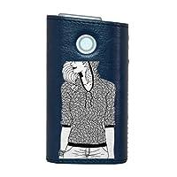 glo グロー グロウ 専用 レザーケース レザーカバー タバコ ケース カバー 合皮 ハードケース カバー 収納 デザイン 革 皮 BLUE ブルー 女性 ファッション おしゃれ 010985