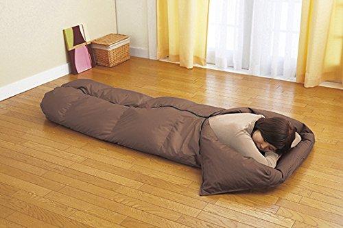 羽毛寝袋 (シュラフ) 羽毛肌掛け布団 兼用 便利な収納ケース付