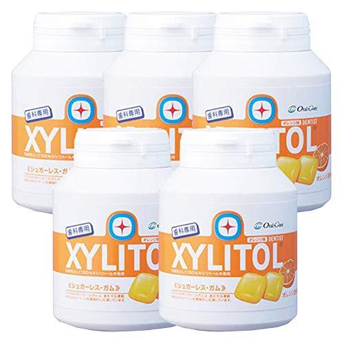 歯科専用 キシリトールガム ボトルタイプ オレンジ (約90粒) 5個セット
