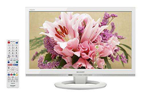 シャープ 19V型 液晶 テレビ AQUOS LC-19K30-W ハイビジョン 外付HDD対応(裏番組録画) ホワイト