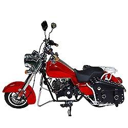 HAIGE ミニ アメリカンバイク クルーザーバイク 50cc 4サイクル チョッパーバイク クラシックバイク KXD009 カラー:レッド