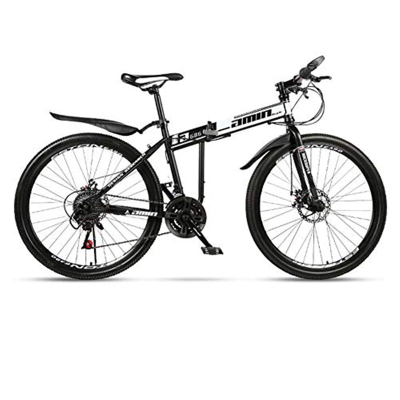 信念算術勉強するフルサスペンションMTBバイク,24インチ折りたたみマウンテンバイク21 24 27 大人の十代の学生のための30スピードディスク自転車