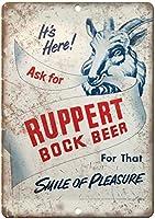 ルパートボックビール 金属板ブリキ看板警告サイン注意サイン表示パネル情報サイン金属安全サイン