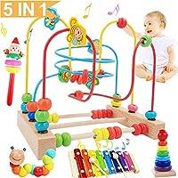 Jiudam ビーズコースター ルーピング おもちゃ 子供 知育玩具 セット 人気 ベビー 早期開発 男の子 女の子 誕生日のプレゼント 赤ちゃん おもちゃ アクティビティキューブ