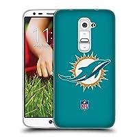 オフィシャル NFL プレーン マイアミ・ドルフィンズ ロゴ ソフトジェルケース LG G2 / D800 / D802 / D801