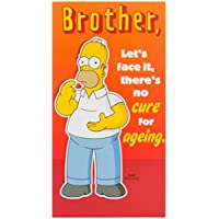 Shop Inc The Simpsons 'Brother - Let's Face It, There's No Cure For Ageing' Mens Birthday Card - Homer Simpson Design