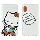 グルマンディーズ ハローキティ iPhoneX(5.8インチ)対応刺繍フリップカバー Aタイプ san-778a