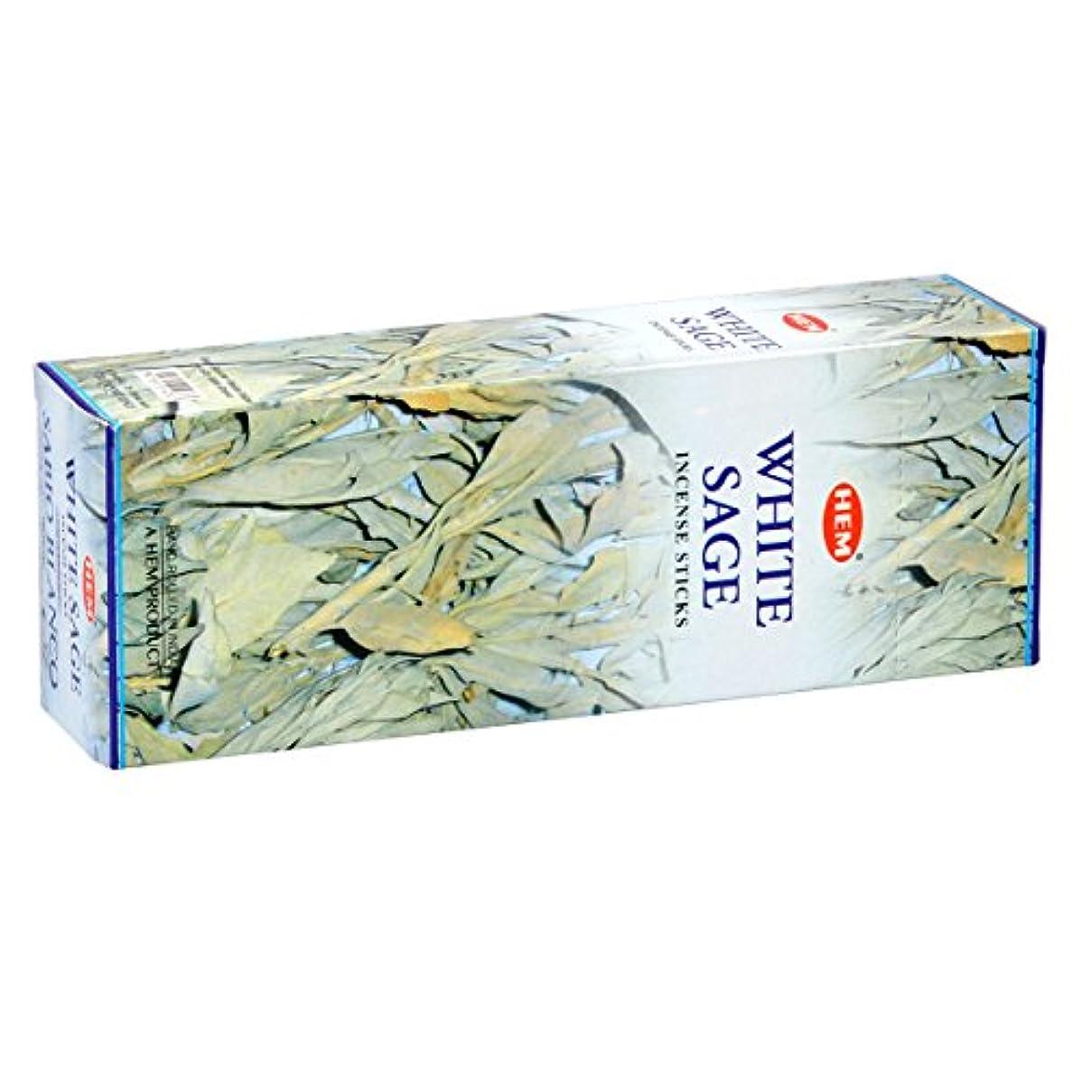 パワー不利テレックスHEM(ヘム) ホワイト セージ WHITE SAGE スティックタイプ お香 6筒 セット [並行輸入品]