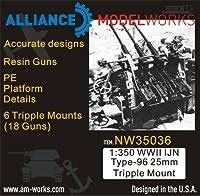1/350 日本海軍 96式25mm 三連装機銃