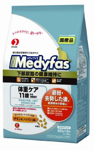 メディファス 体重ケア 11歳から 老齢猫用 チキン&フィッシュ味 1.4kg