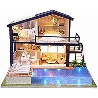 Toolbit DIY木製人形家ハンドクラフトミニチュアkit-large Villa &家具( with音楽動き)