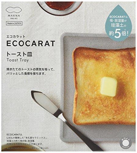 マーナ 多孔質セラミック エコカラット トースト皿 ホワイト K686W