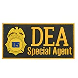 US DEA Special Agent Federal Drug Enforcement FBI Marshal Dept Justice PVC ラバー ベルクロ面ファスナー パッチ Patch